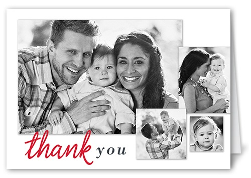 family birthday thank you card