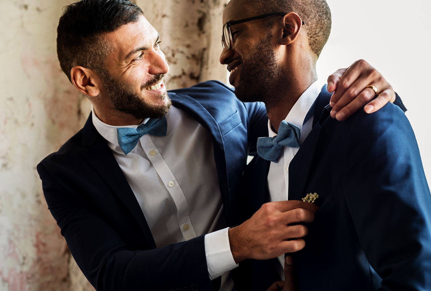 same sex couple at wedding ceremony