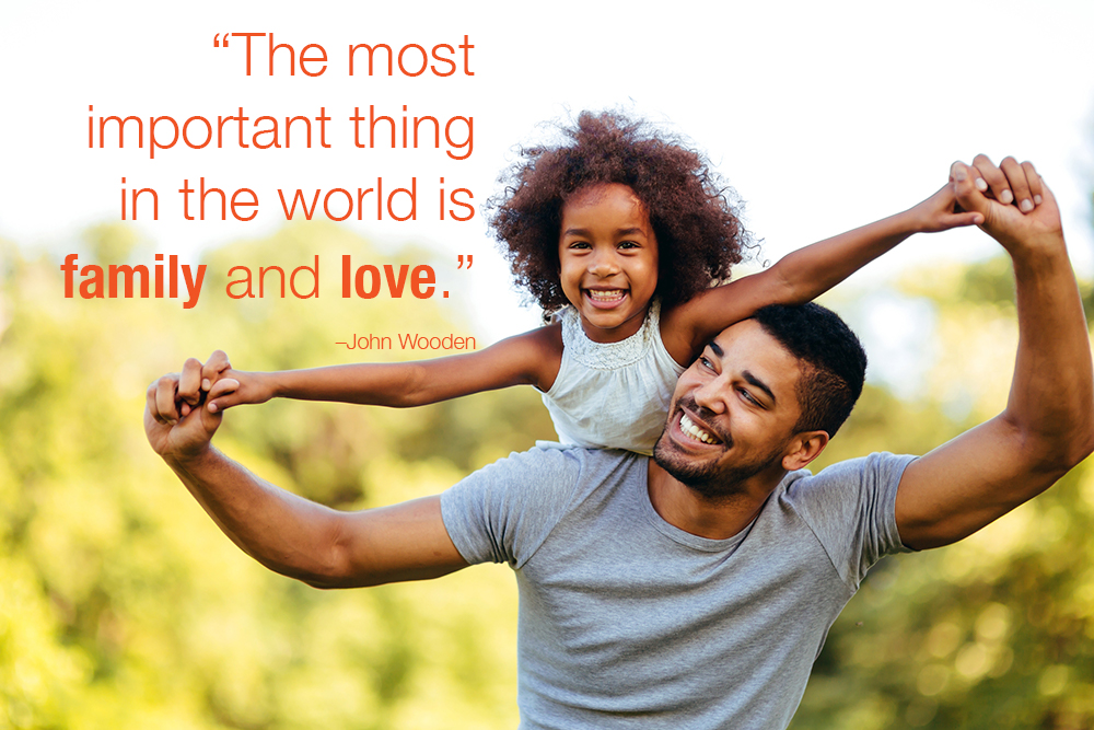 the most important thing in the world is family and love quote