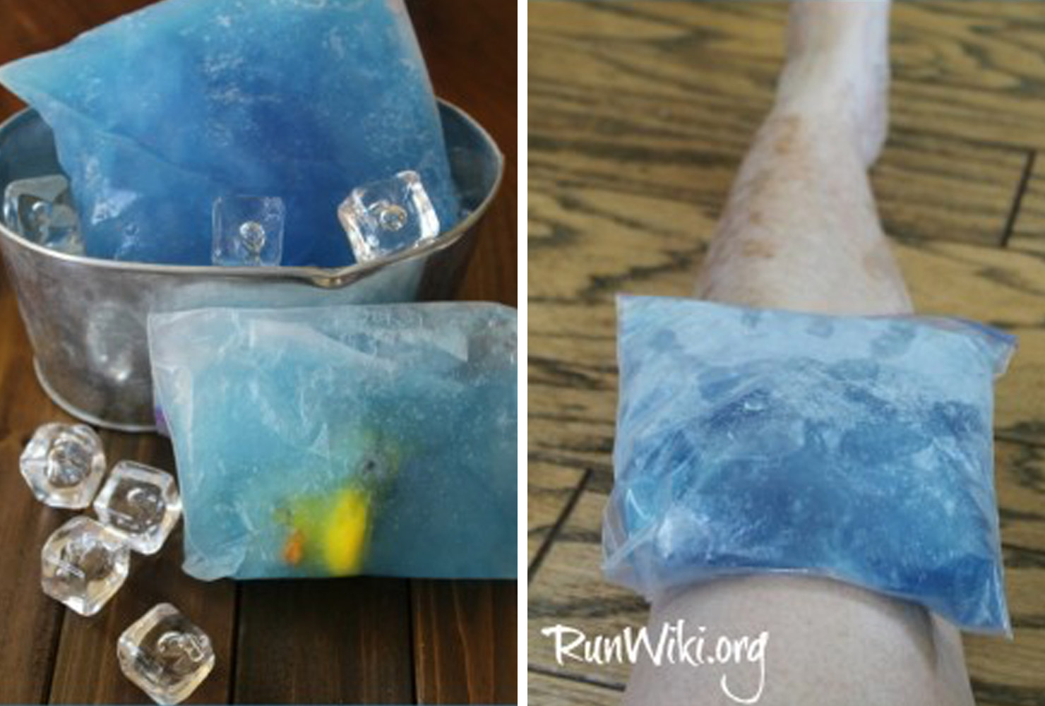 blue homemade ice pack