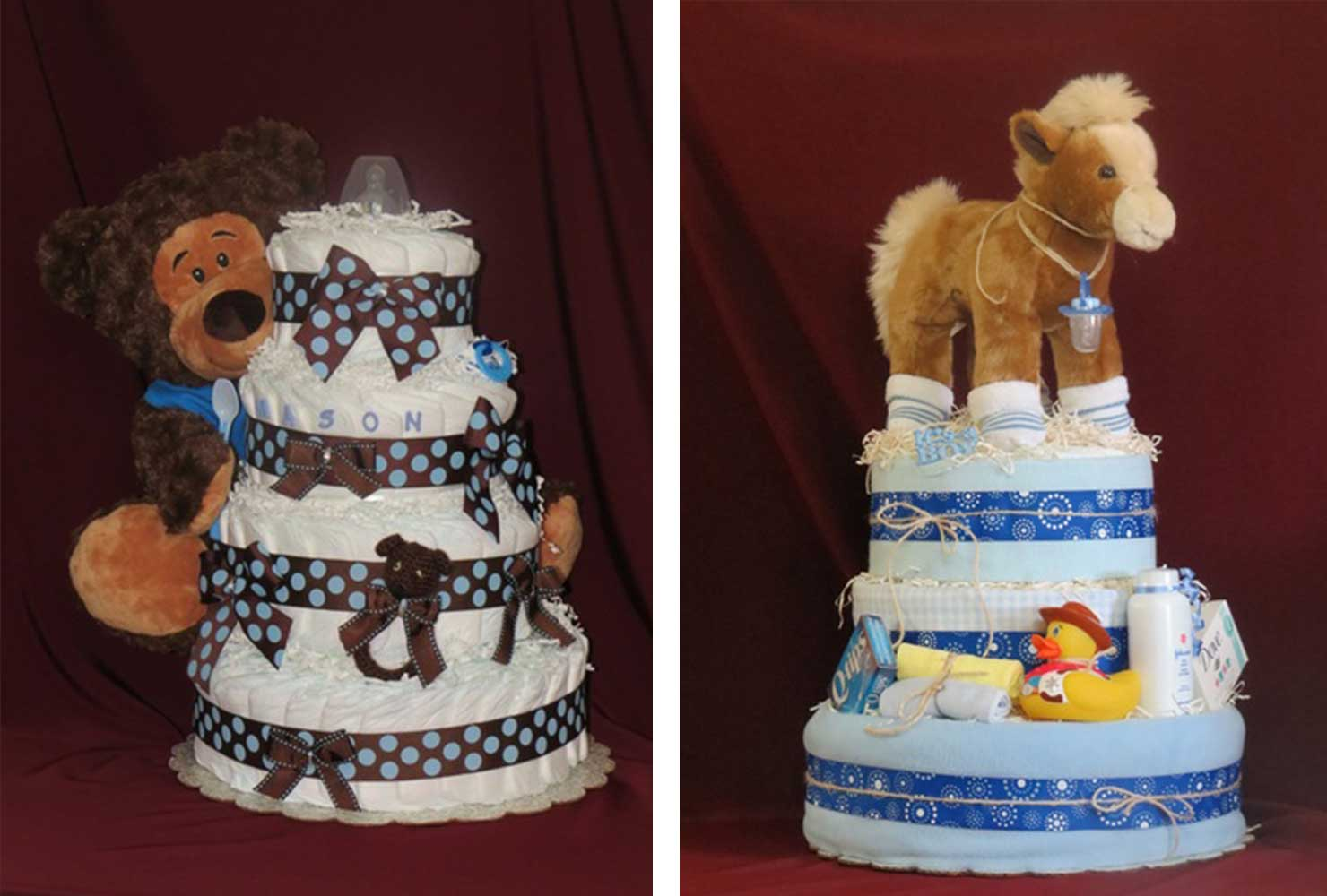 coed baby shower diaper cakes