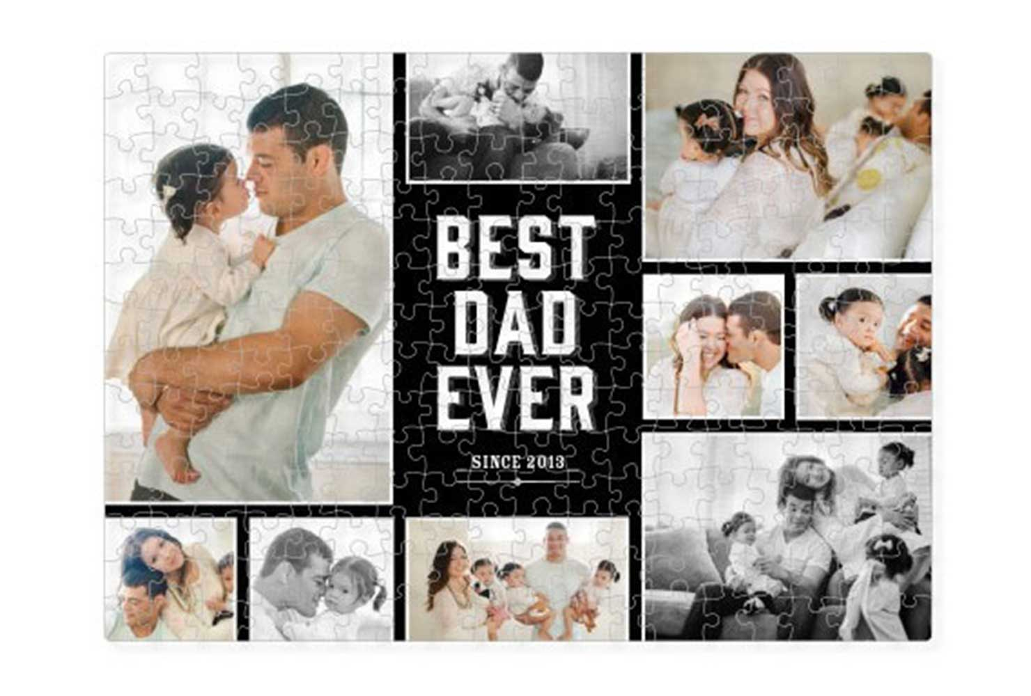 coed baby shower photo puzzle