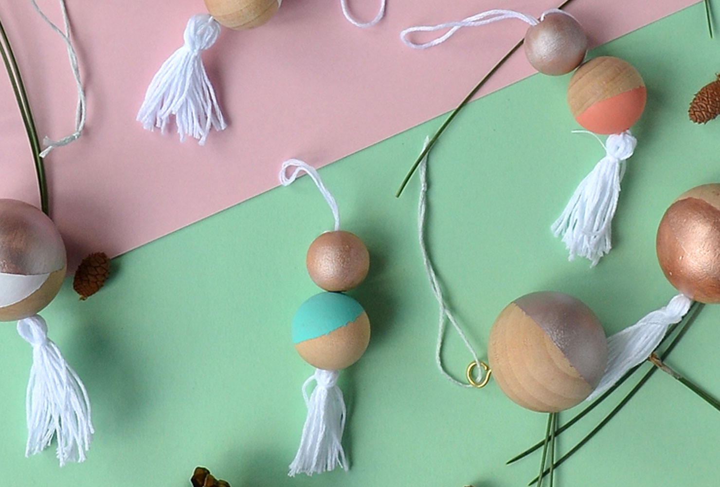 colorblocked ornaments