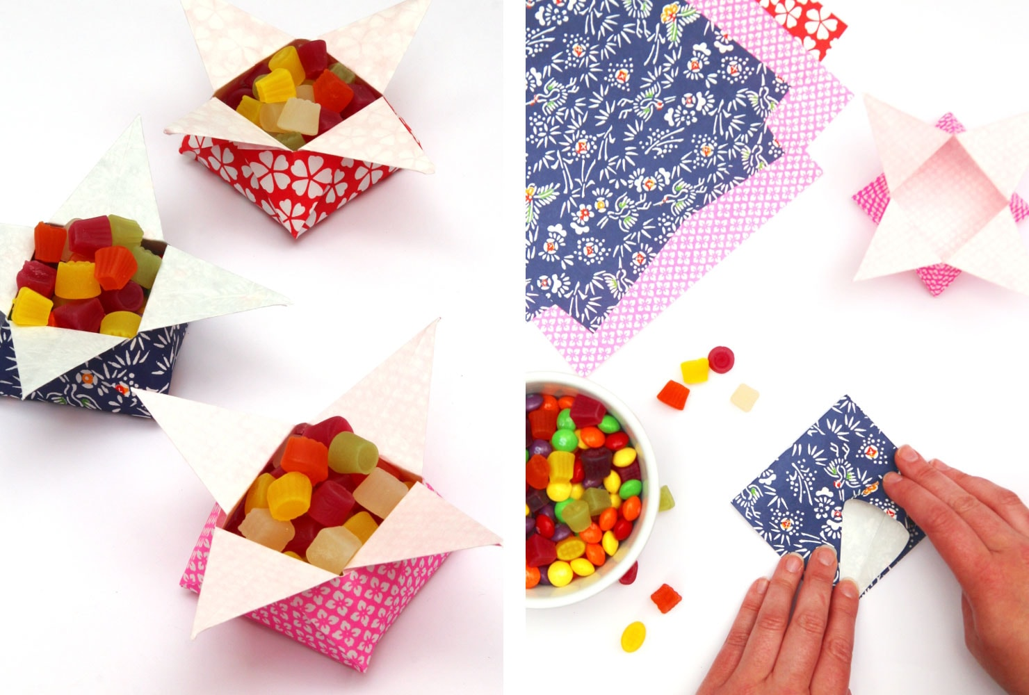 origami candy favors