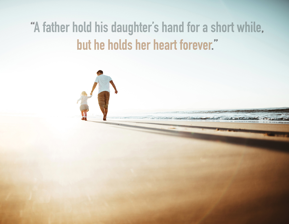 dad and daughter images with quotes: always together