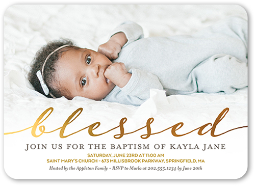 baptism invitation wording on a Shutterfly card