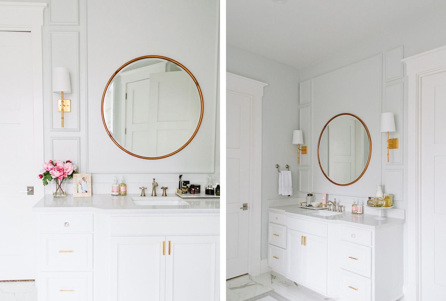 bathroom mirror golden frame