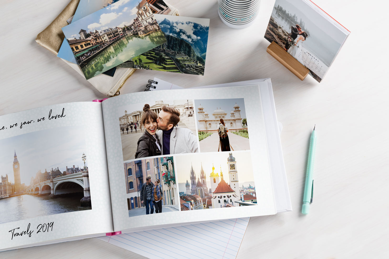 making photo books online with collage photos and memories
