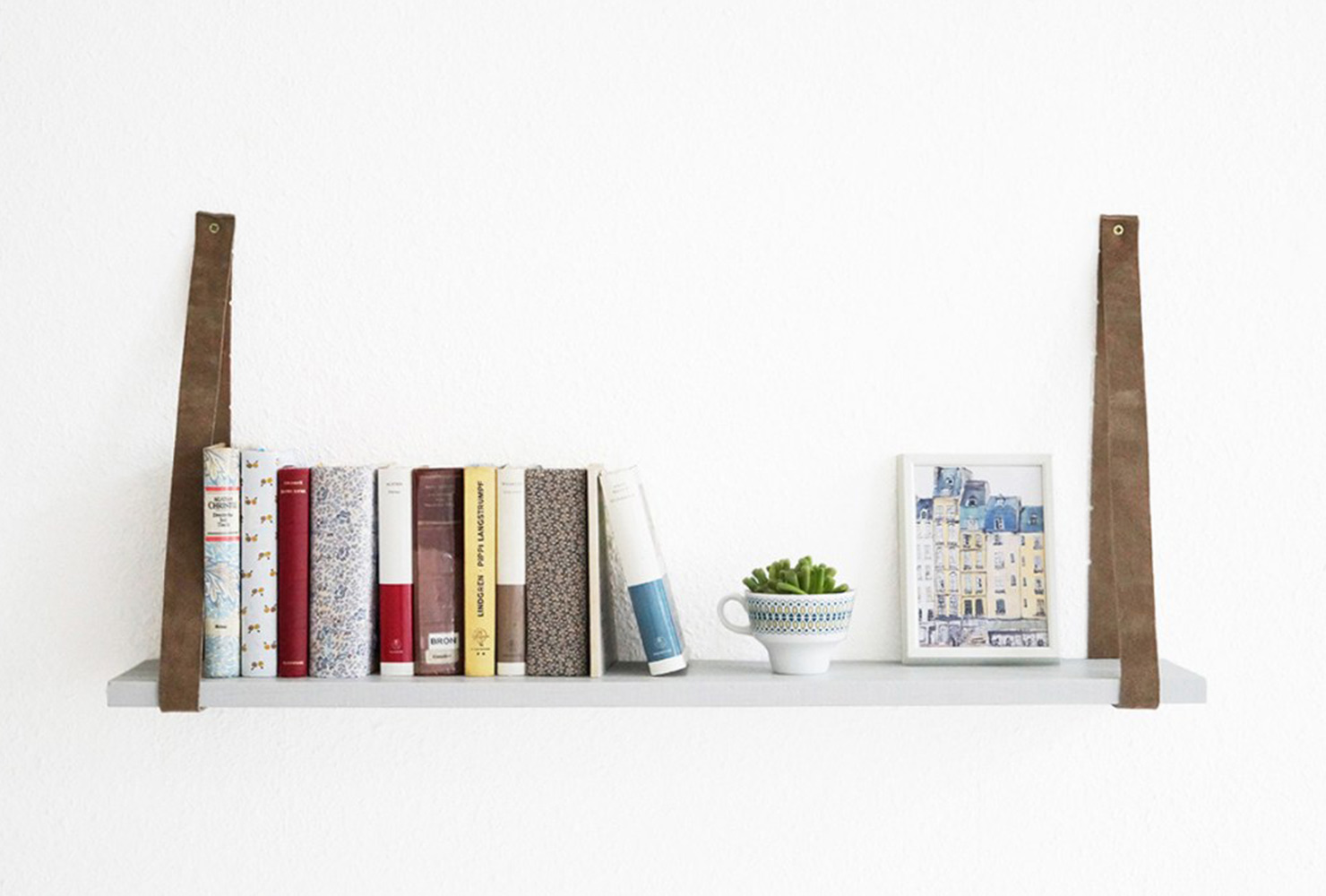 gifts for readers leather belt floating shelf