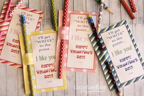 valentines day crafts for kids as pencil valentines