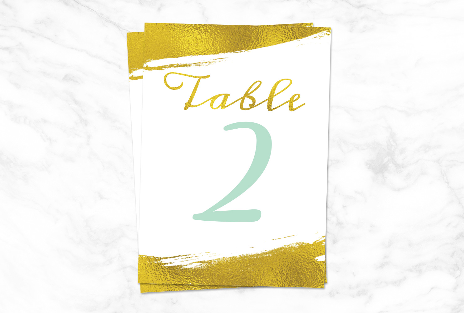 Metallic color table number