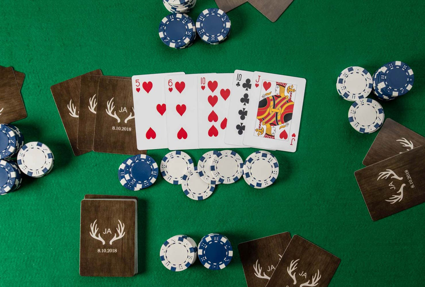 game room idea cards poker table