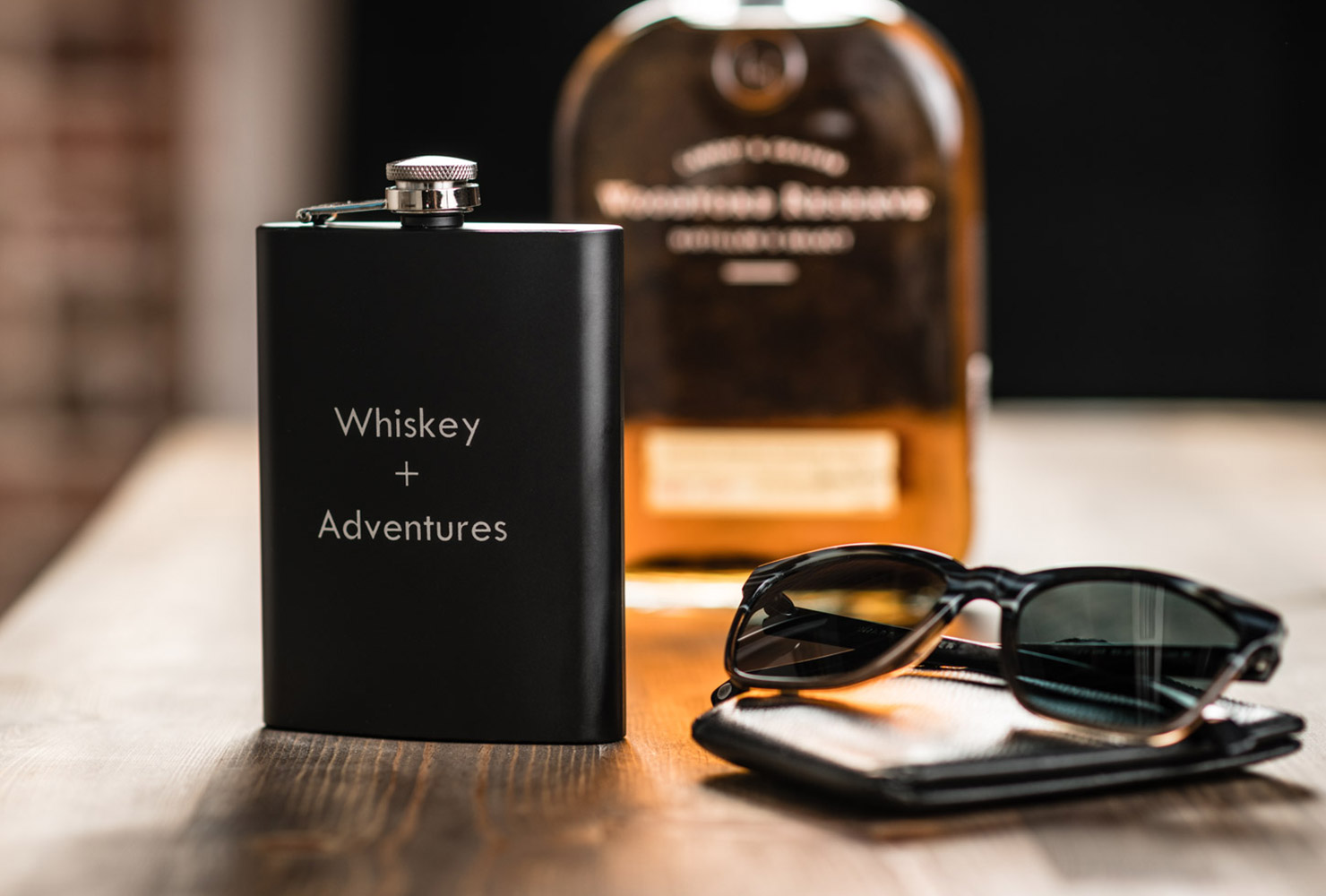 game room idea whiskey flask