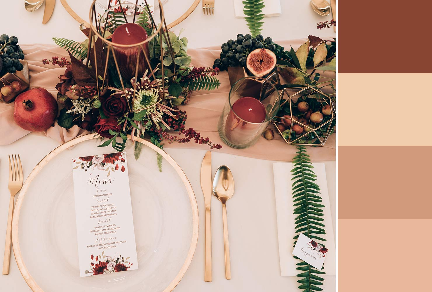 muted pink table setting