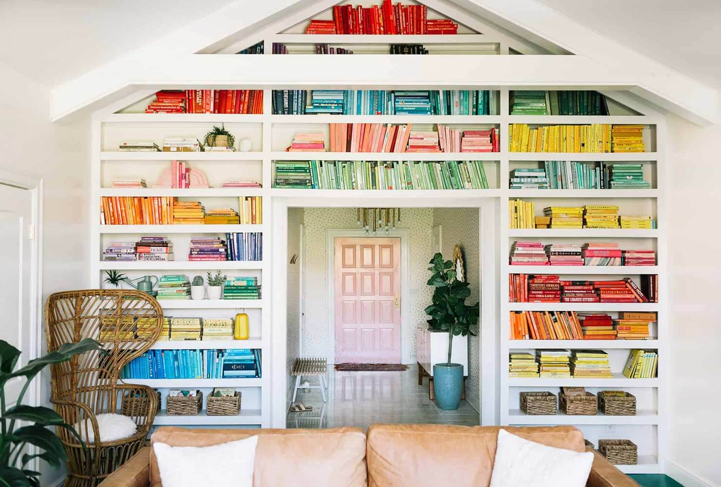 color coded shelves
