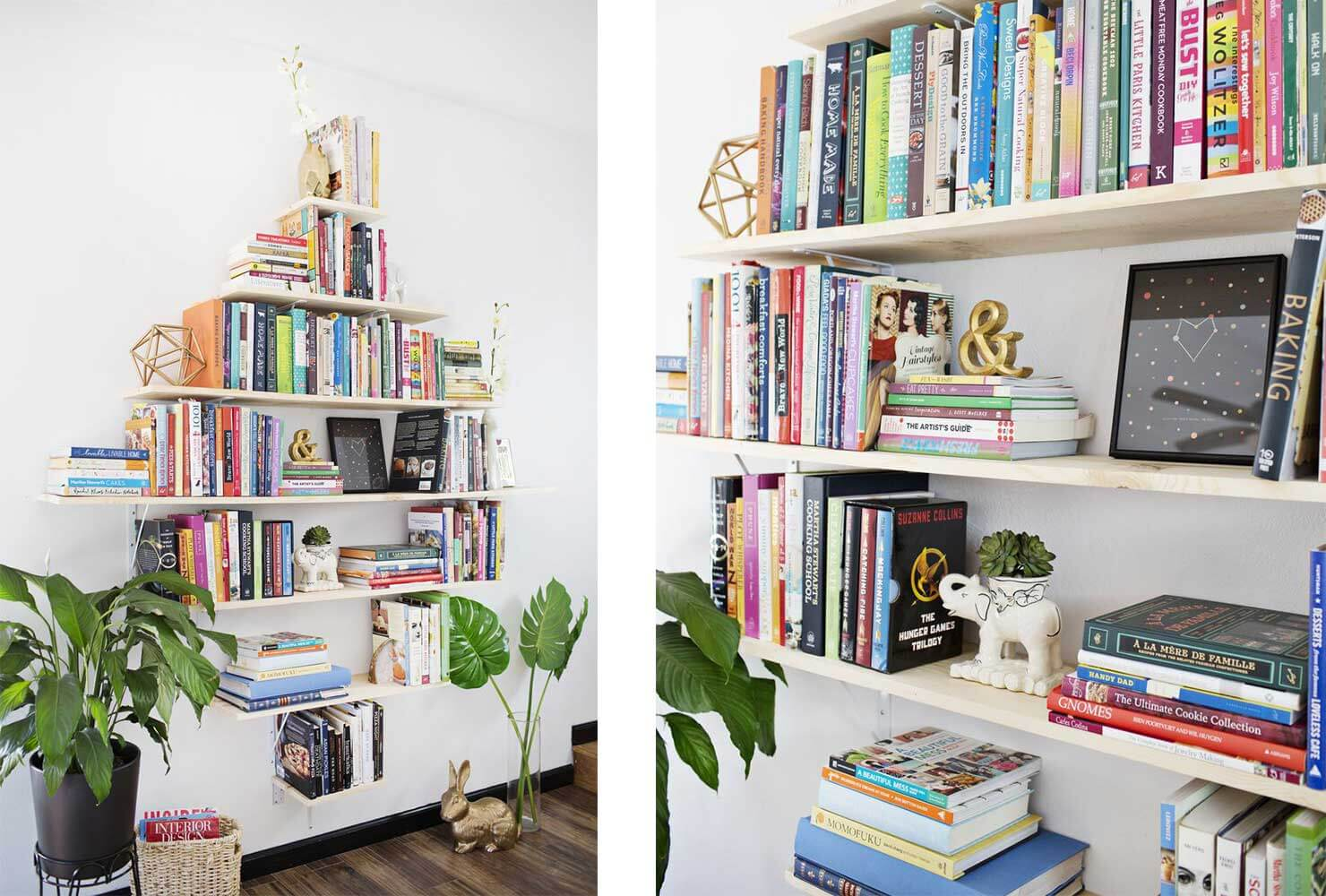 floating book shelves