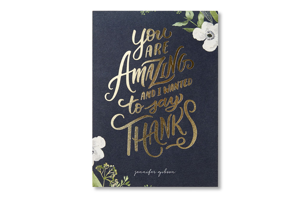 You are amazing and I wanted to say thanks card