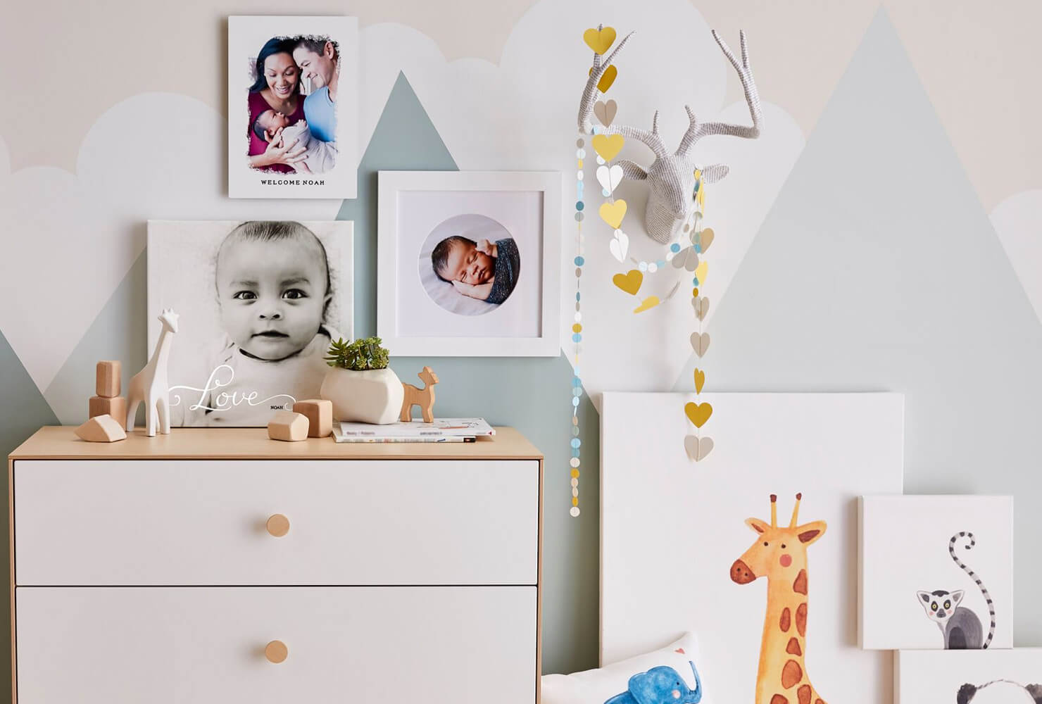 wall art for little girls room illustrated animals
