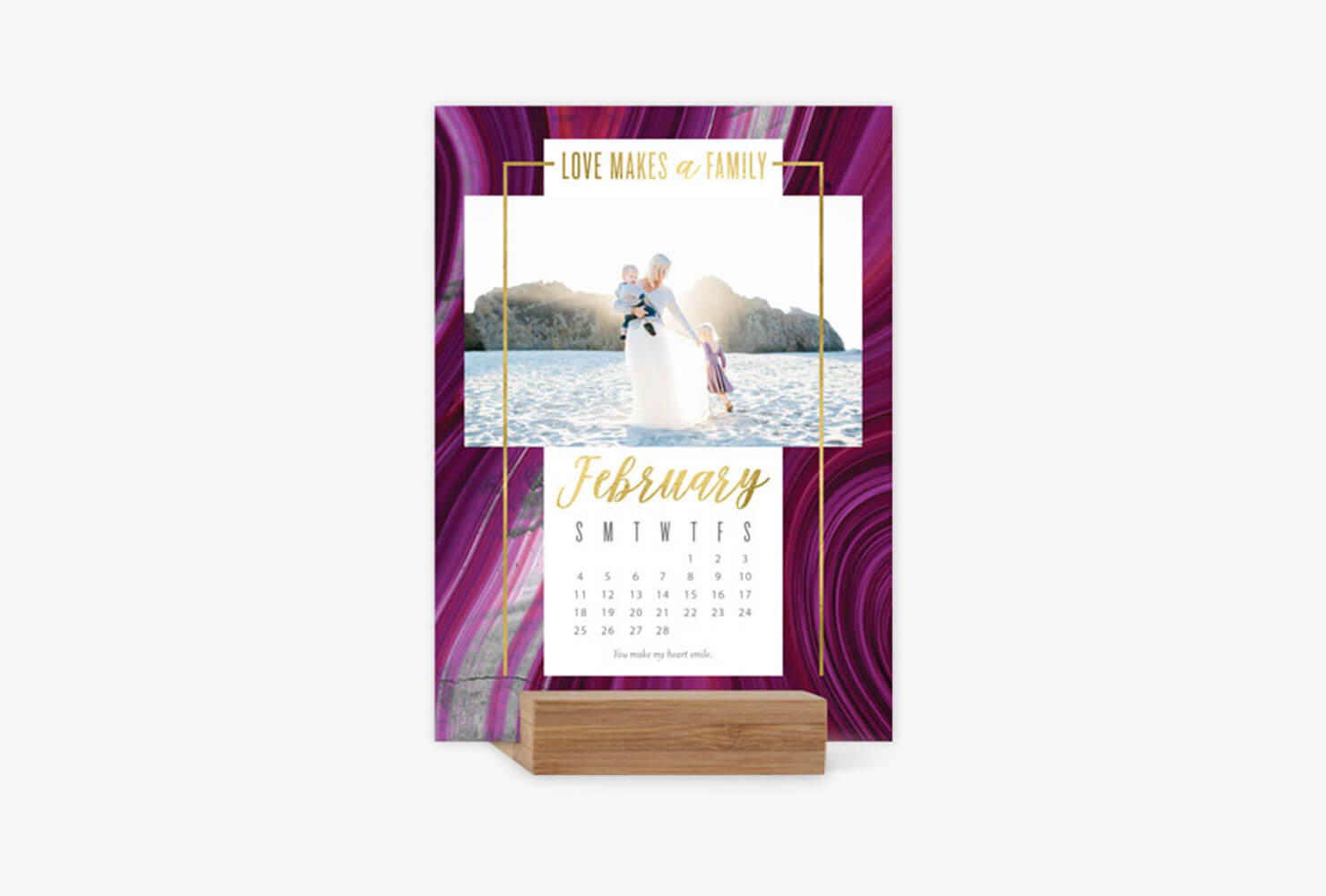 15th wedding anniversary gifts custom calendar