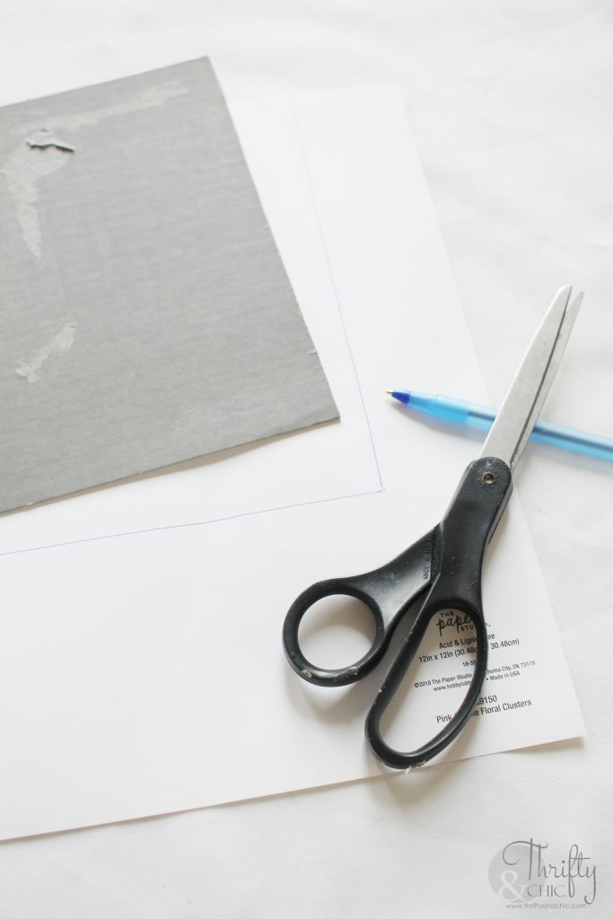 scissors and tracing paper