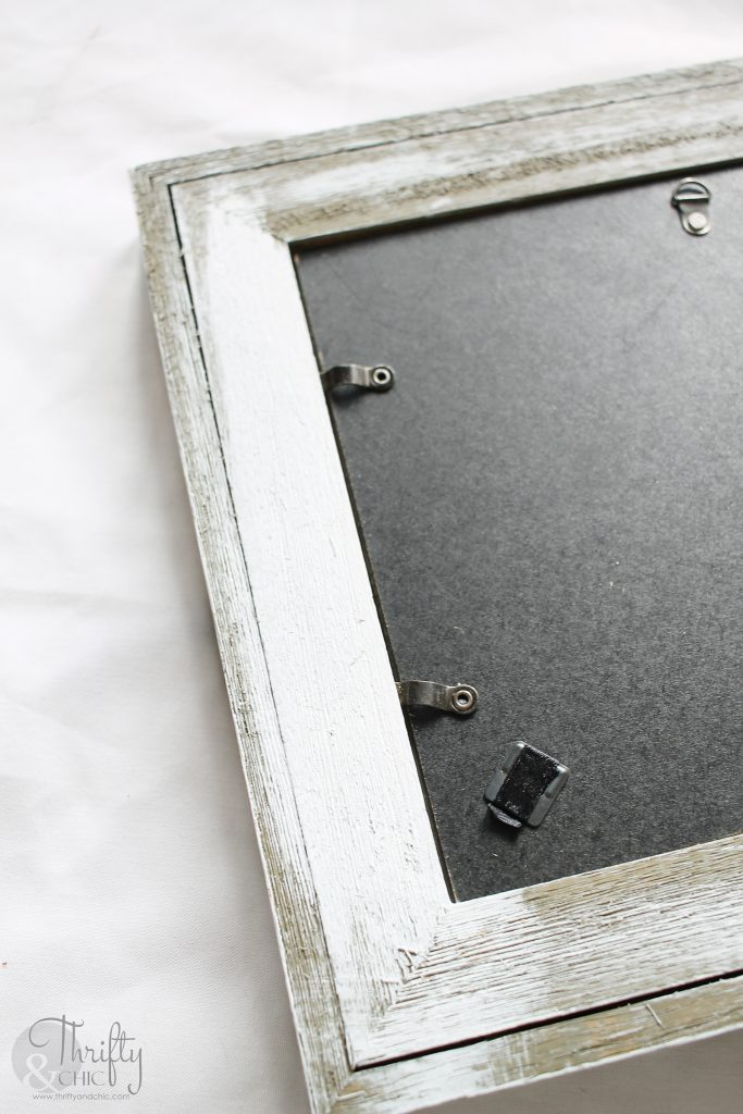 blank back of picture frame tray