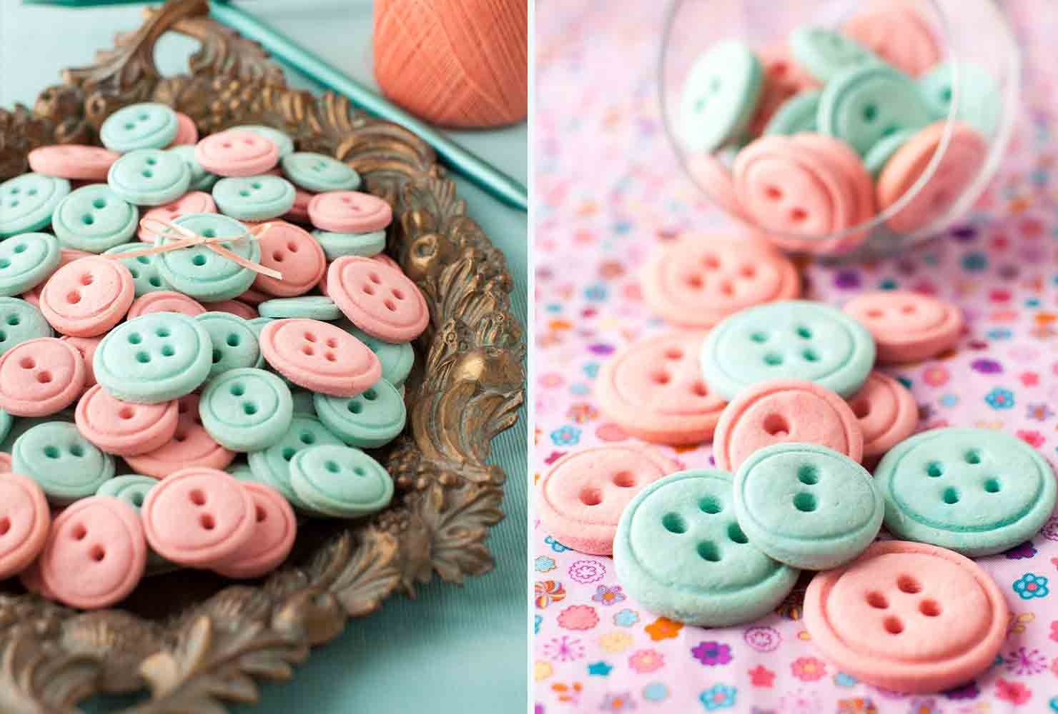 baby shower food button cookies