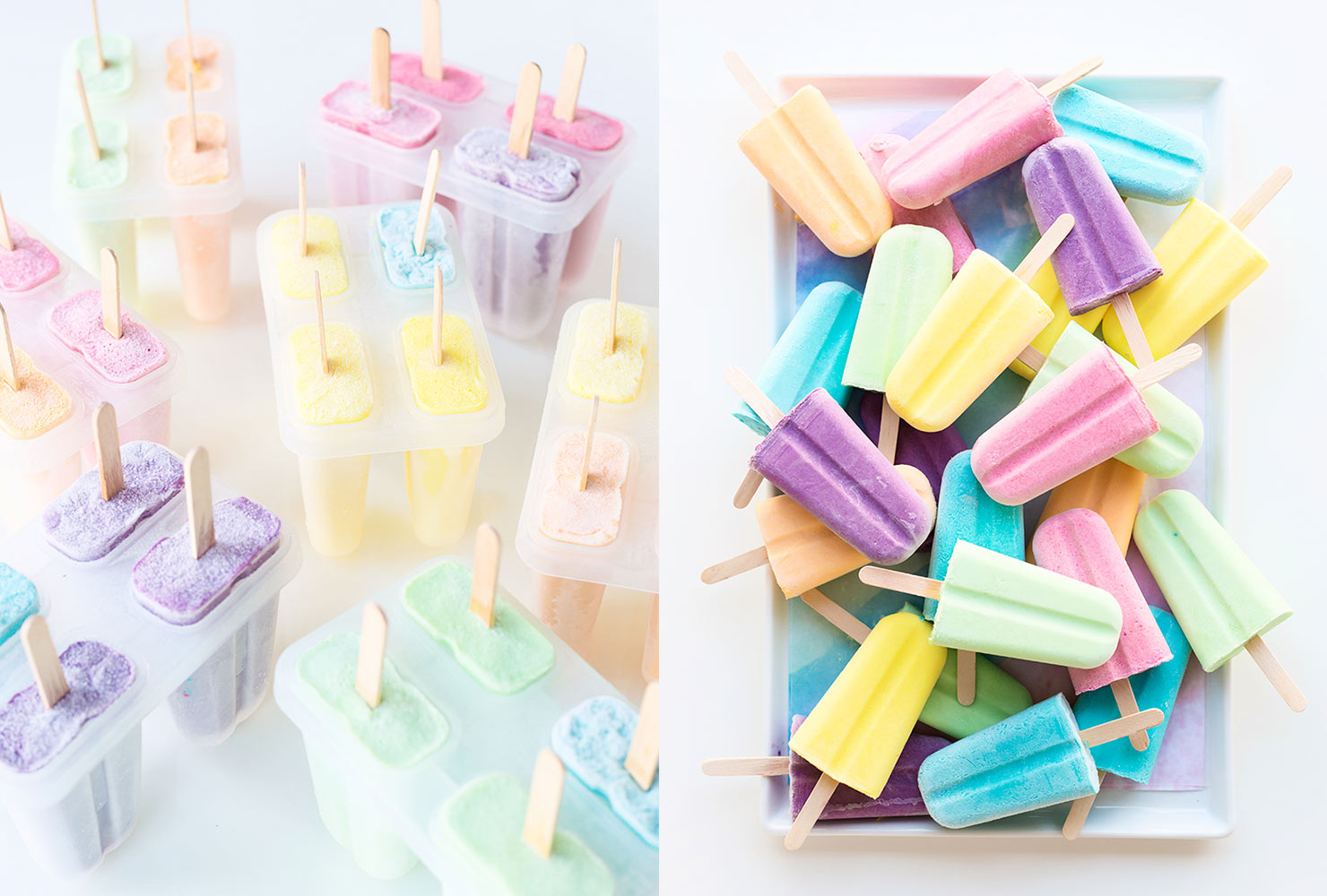 baby shower food pastel popsicles