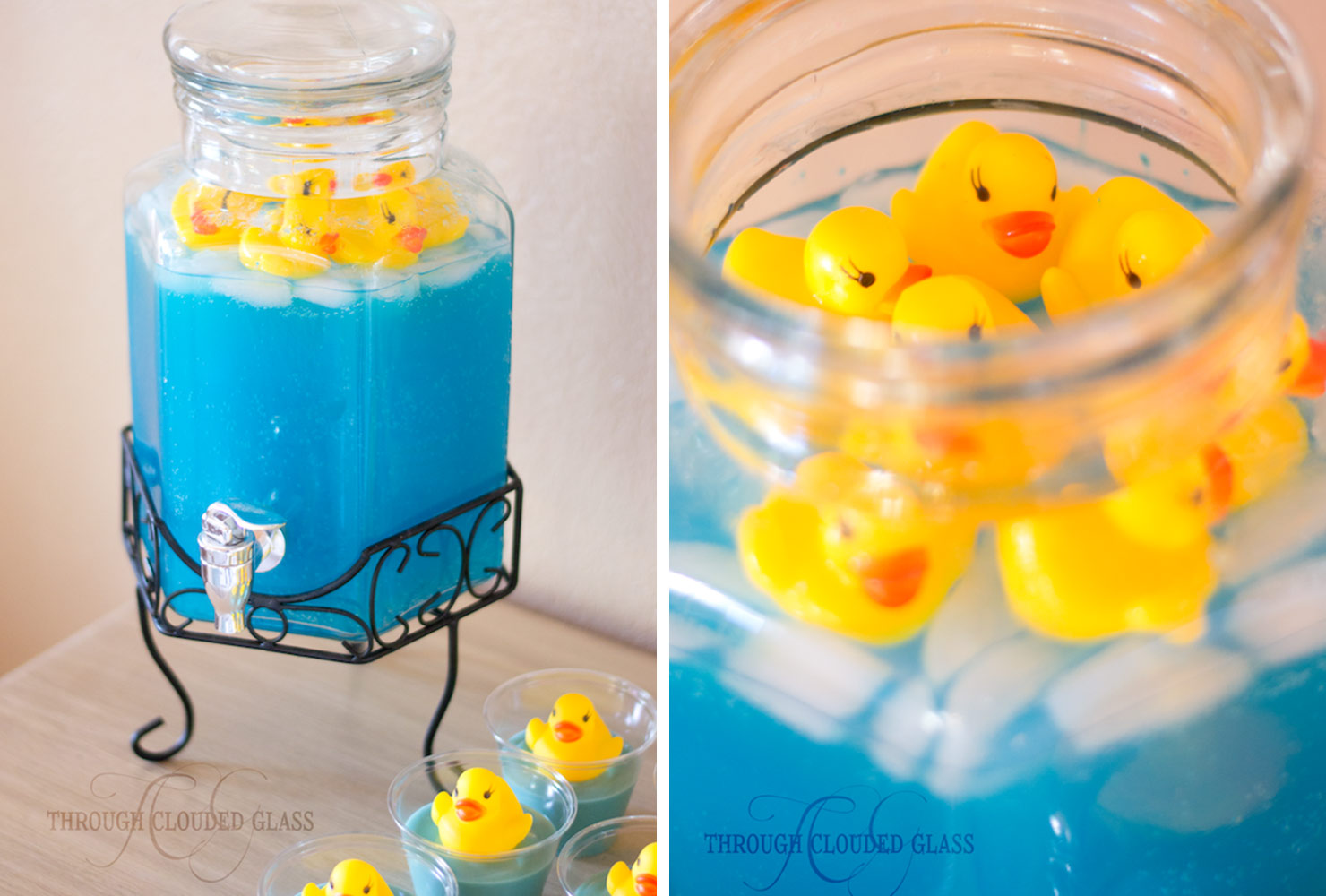 baby shower food rubber ducky punch