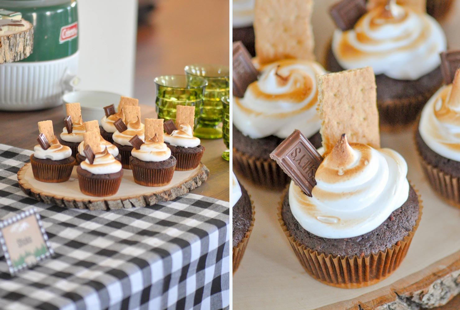 baby shower food smore cupcakes
