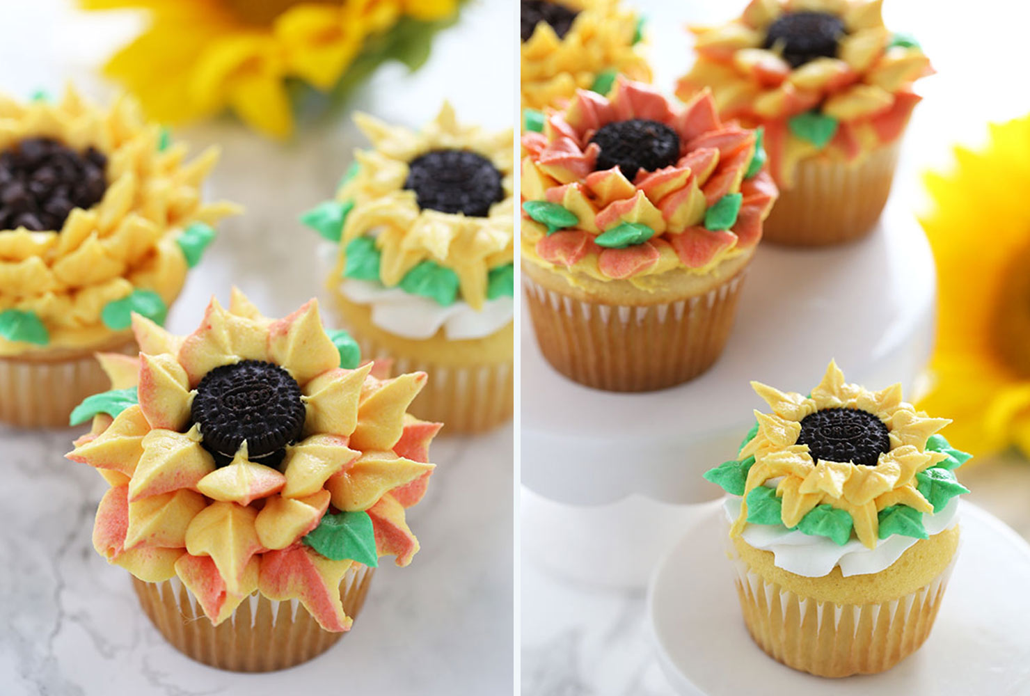 baby shower food sunflower cupcakes