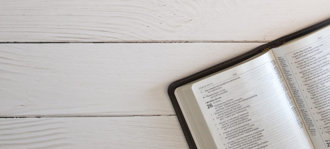 Bible verses about loss on a White Wood Table