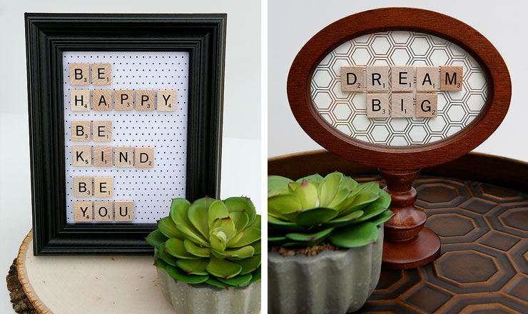 gift for parents scrabble love note
