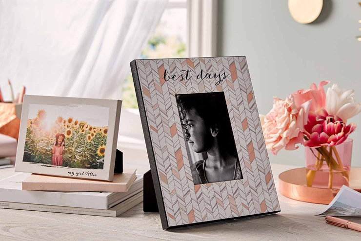 mothers day gift ideas chevron pattern frame