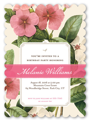 An 80th birthday party invitation from Shutterfly.