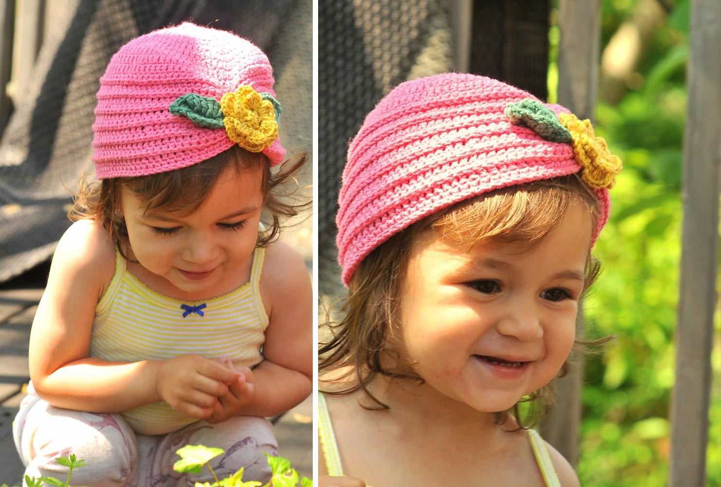 baby gifts girls crochet floral hat