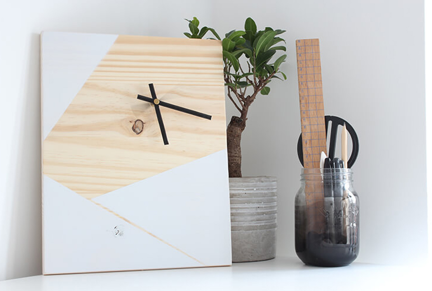 birthday gift ideas geometric clock