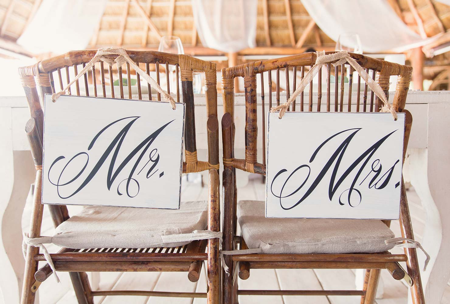 Mr. and Mrs wedding chairs