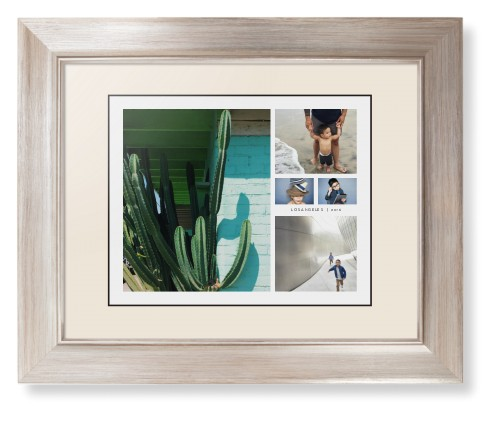 A framed print of summer pictures with different pictures