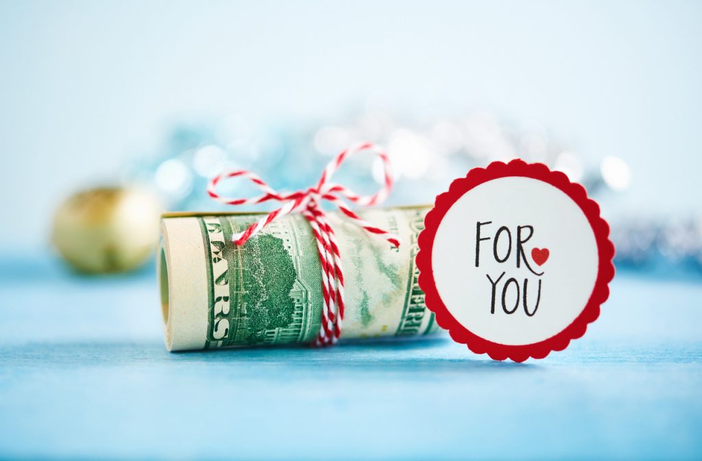 Giving the gift of cash.