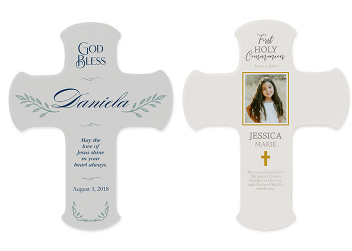 Two options for wall crosses from Shutterfly.