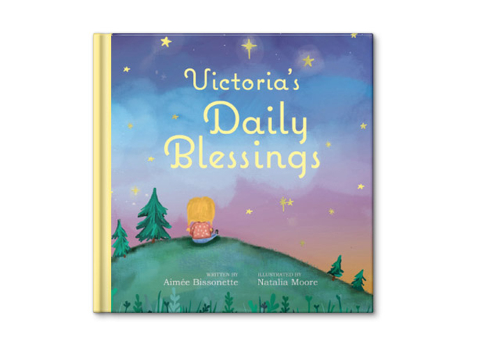 A personalized story book about daily blessings.