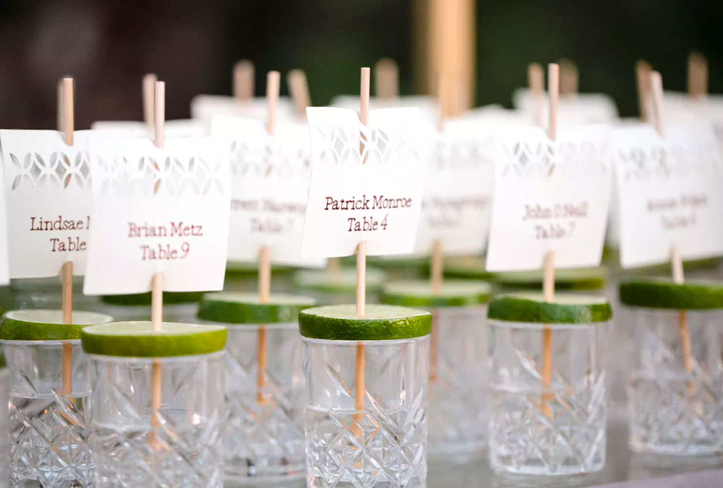 wedding place card ideas shots all around