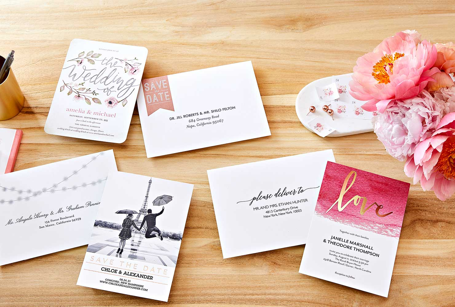 wedding stationery suite.