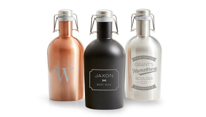 A set of custom growlers for a gift idea.