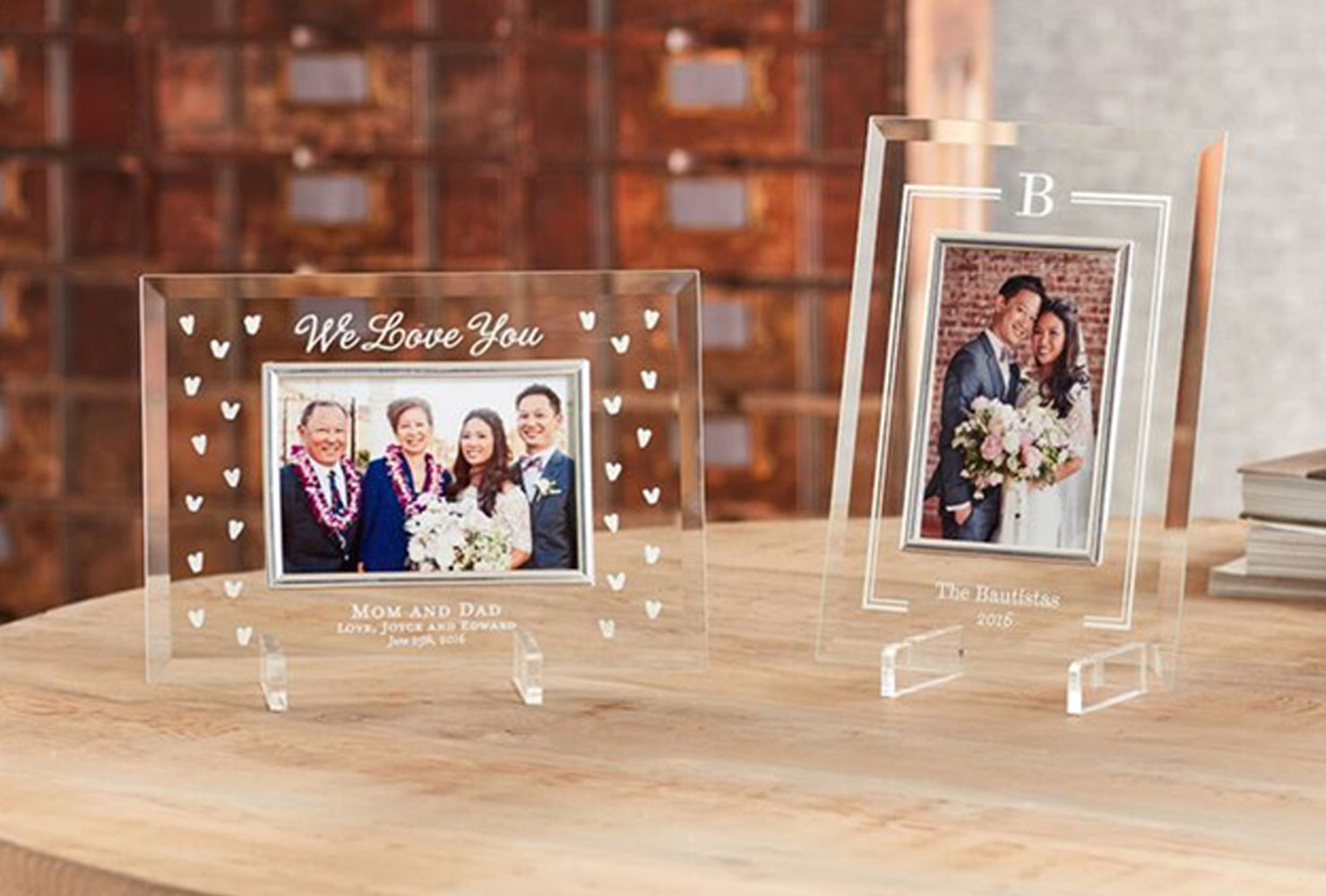 christmas gift ideas for friends glass frame.