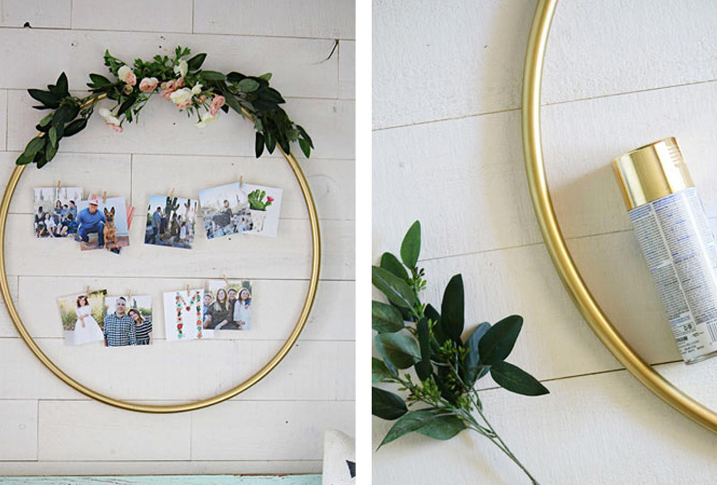 christmas gift ideas for friends photo wreath.