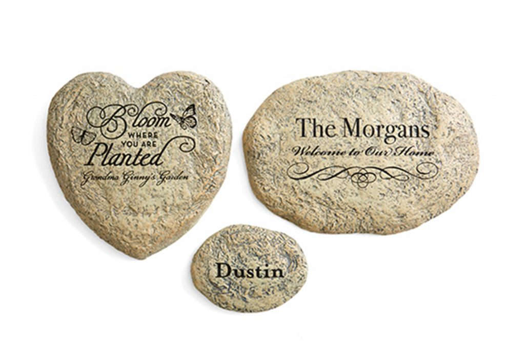 personalized garden stones with names