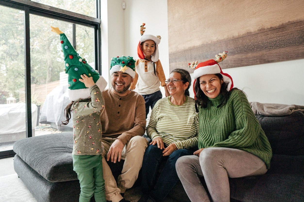 Family on Winter Holidays together