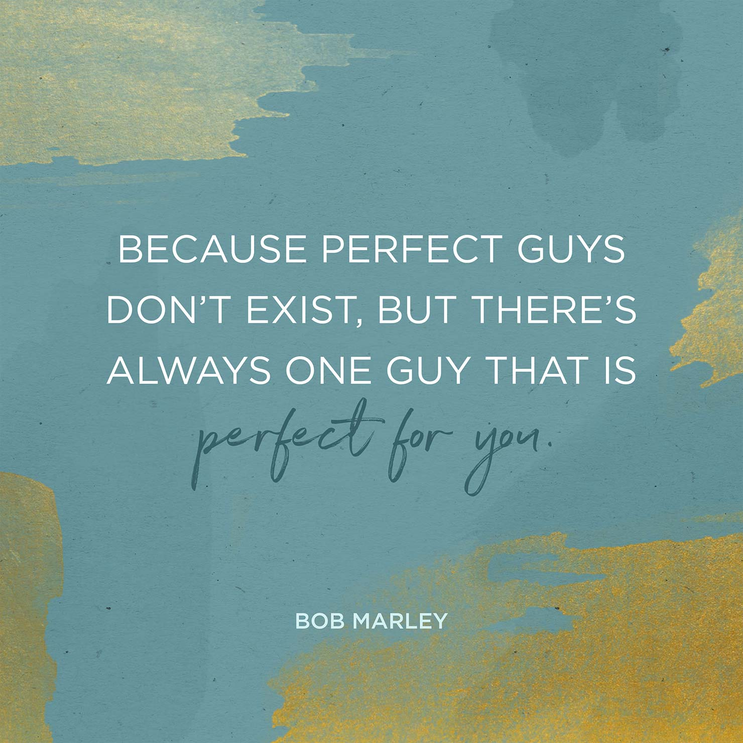 Bob Marley perfect guys quote illustration.