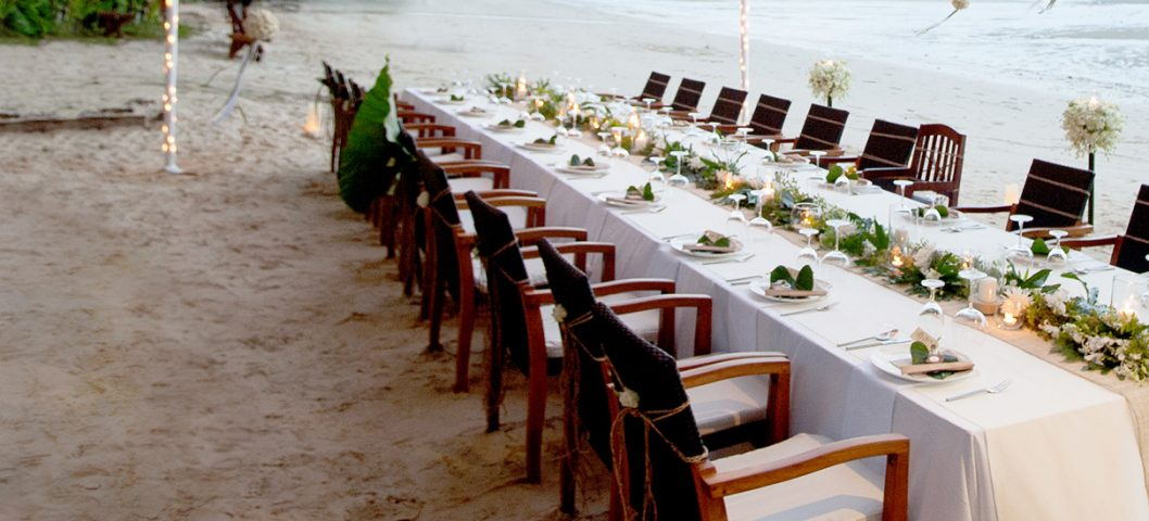 outdoor wedding on beach